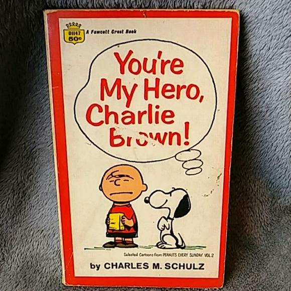 Vintage 1968 You're My Hero, Charlie Brown! Book